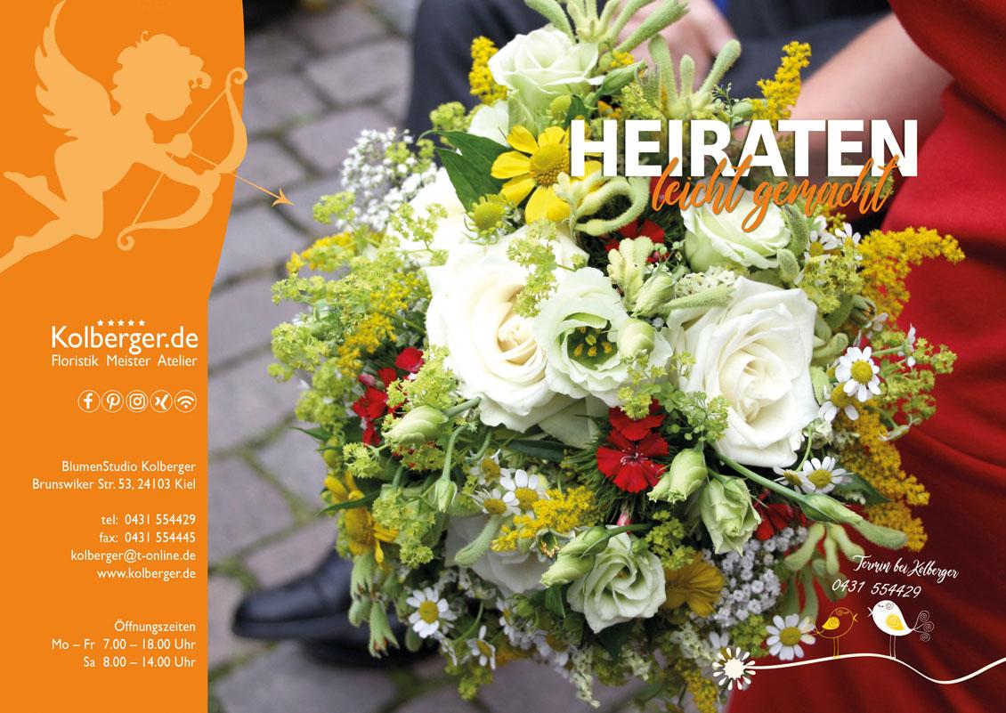 Heiraten mit einem Brautstrauß von Kolberger in Kiel