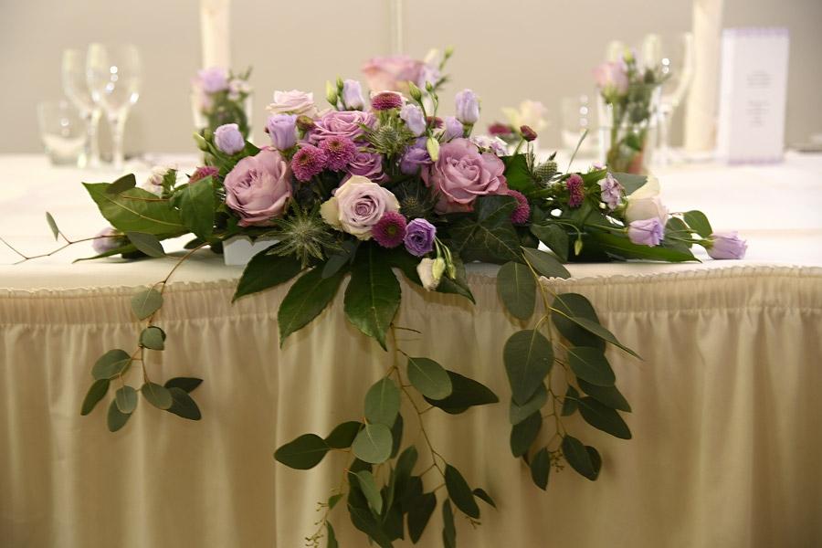 Tischdekoration auf Kieler Hochzeit