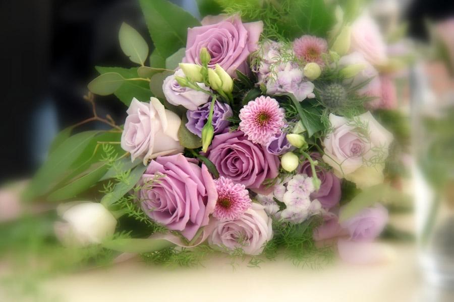 Hochzeitsstrauß ind rose