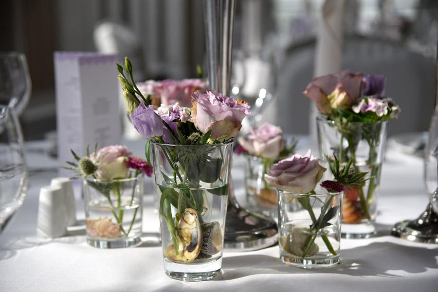 Tischdekoration für Hochzeit in Kiel