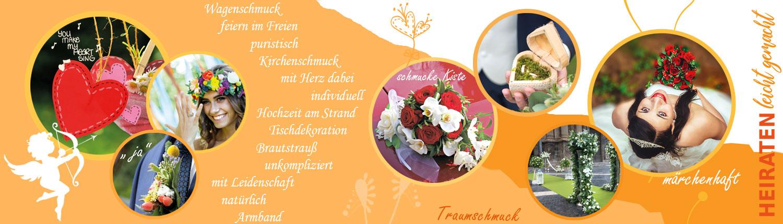Heiraten mit Blumen vom Florist in Kiel