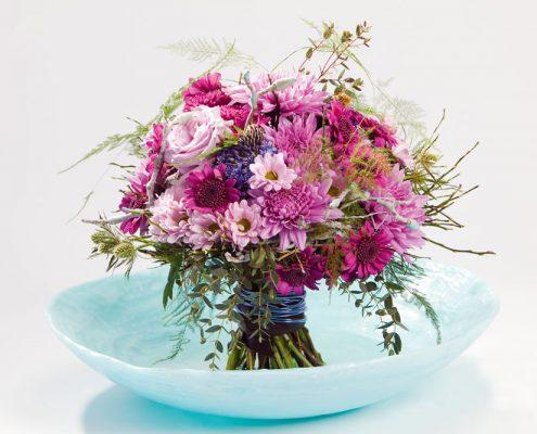 Blumenstrauss rosa Chrysantheme