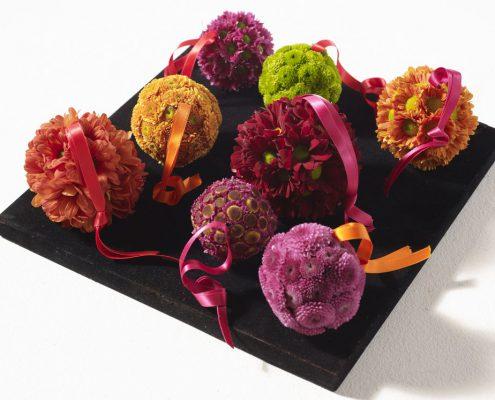 Kugeln aus Chrysanthemen