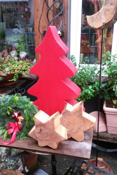 Holzobjekte Weihnachtsdekoration