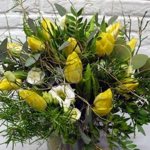 Blumenlieferung Blumenstrauss mit gelben Tulpen