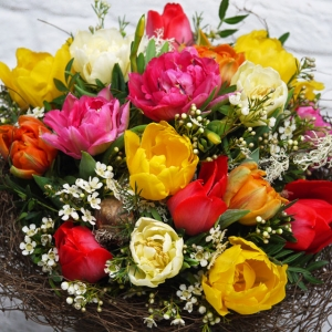 Frühlingsstrauß, Blumenstrauß, Tulpenstrauß, Lieferung