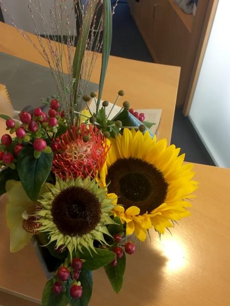 Blumenstrauss fürs Büro