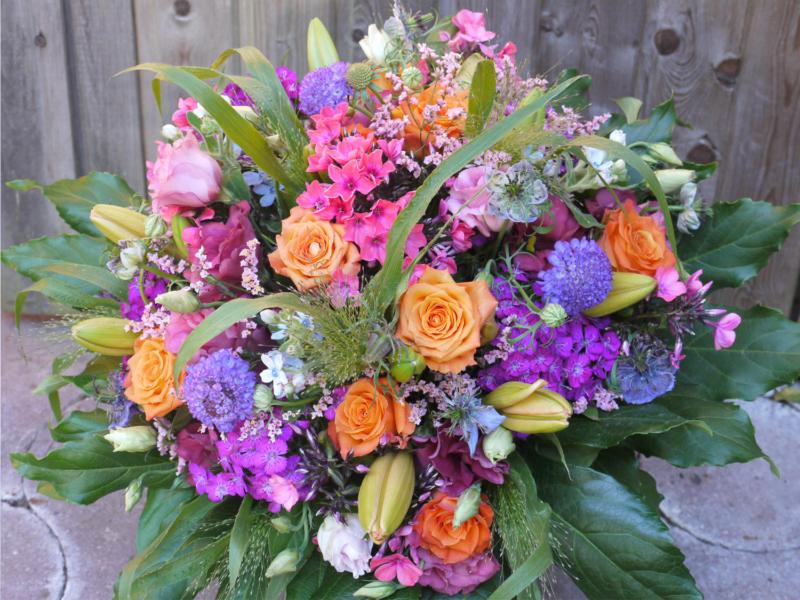 Blumenstrauss für Mitarbeiter zum Geburtstag