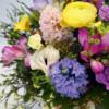 Blumenstrauss zart Pastell mit Hyazinthe, Freesie, Anenmone und Ranunkel