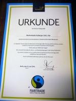 Fairtrade Urkunde