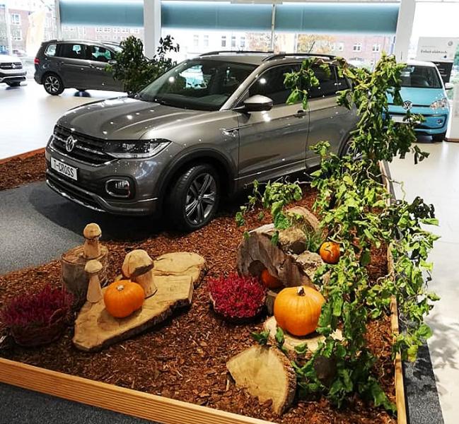 Unser Firmenservice: Herbstdekoration im VW-Zentrum Kiel
