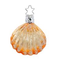 Perlmuschel, eine maritime Weihnachtskugel für den Tannenbaum