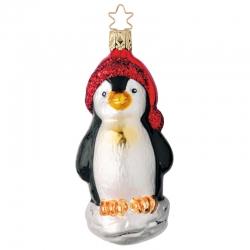 Baumschmuck Pinguin Glaskunst von Inge Glas