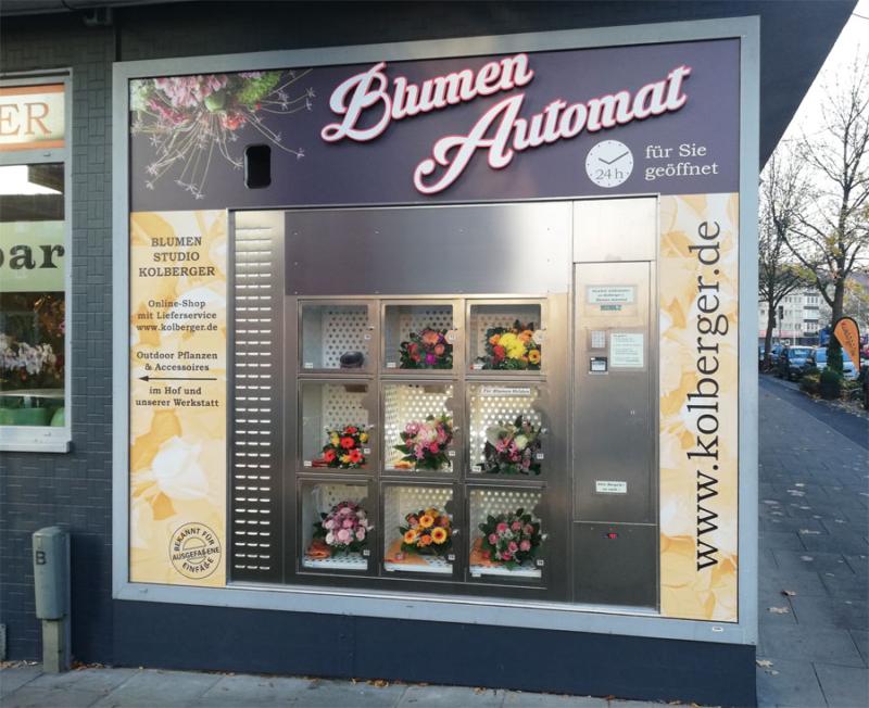 Blumenautomat Blumen in Kiel kaufen bei Kolberger, Blumenstrauß kontaktlos